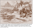 """An example of Anti-Catholic and anti-Irish propaganda from the 18th-century Nativist movement. In this political cartoon, Protestants try to protect their families from """"Catholic crocodiles."""" Anti-immigrant sentiment is still used to divide the poor along racial and ethnic lines."""