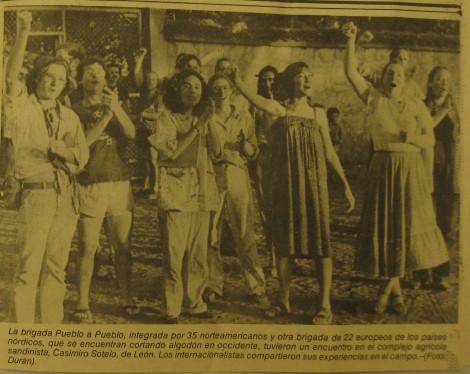 CUSLAR members in Pueblo a Pueblo delegation in Nicaragua, 1982