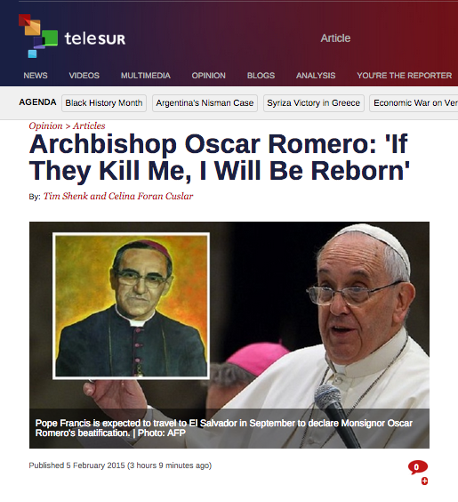 Cuslar On Telesur Archbishop Oscar Romero If They Kill Me I Will Be Reborn furthermore French Word Search Pack For Juniors 11250779 likewise Man Gods Microphone 12 Quotes Celebrate Life Voice Oscar Romero together with Romero as well Research Project Honors Martyrs Of El Salvador. on pope francis and archbishop romero